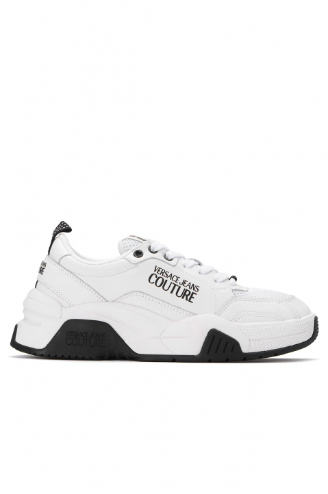 VERSACE JEANS COUTURE White Linea Fondo Logo Sneakers 0