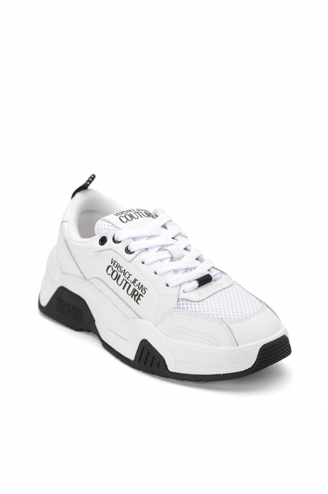 VERSACE JEANS COUTURE White Linea Fondo Logo Sneakers 1
