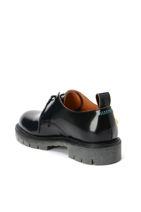OFF-WHITE Arrows Black Derby Shoes  2