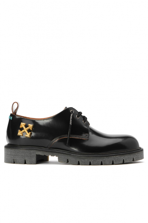 OFF-WHITE Arrows Black Derby Shoes  0