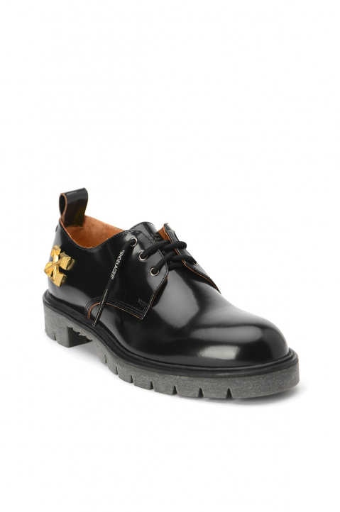 OFF-WHITE Arrows Black Derby Shoes  1