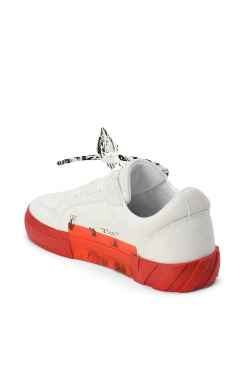 OFF-WHITE White/Red Low Vulcanized Sneakers 2