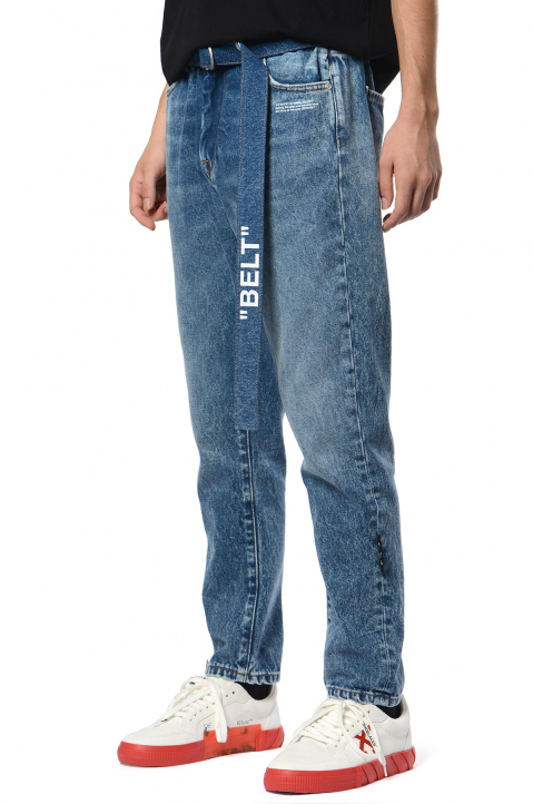 OFF-WHITE Carrot Fit Blue Jeans 0