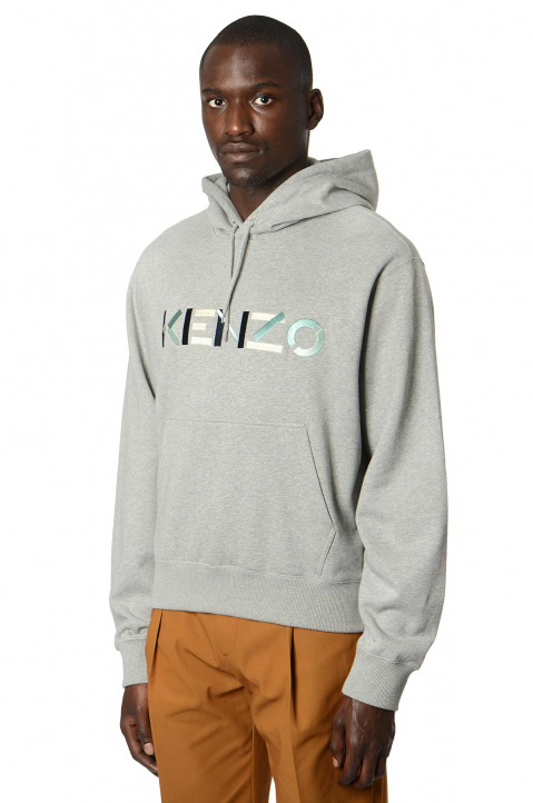 KENZO Embroidered Logo Grey Hoodie 0