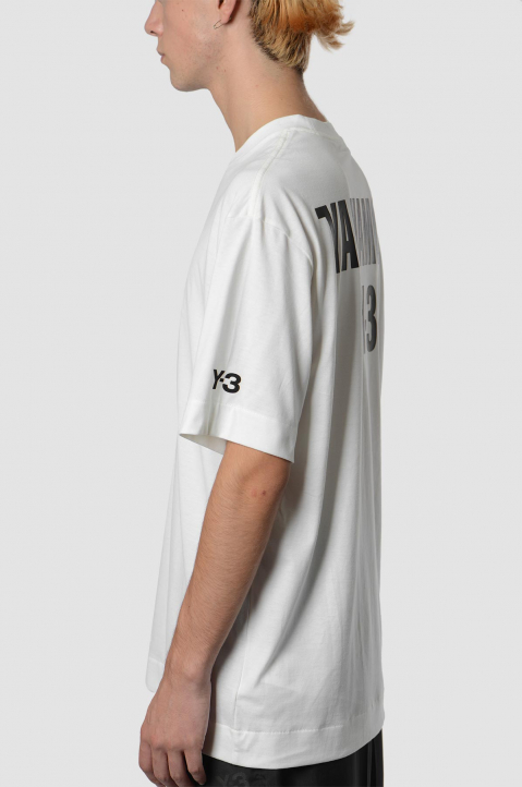Y-3 CH2 White Graphic Tee 2