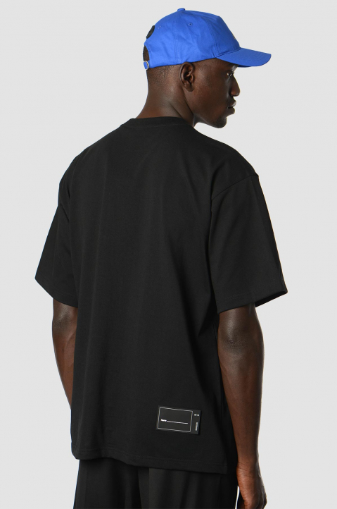 WE11DONE Patch Logo Black Tee  1