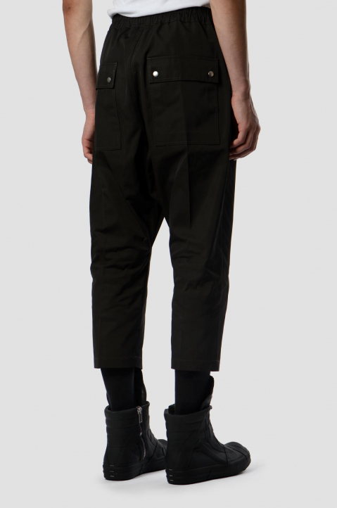 RICK OWENS Black Bela Cropped Trousers 1