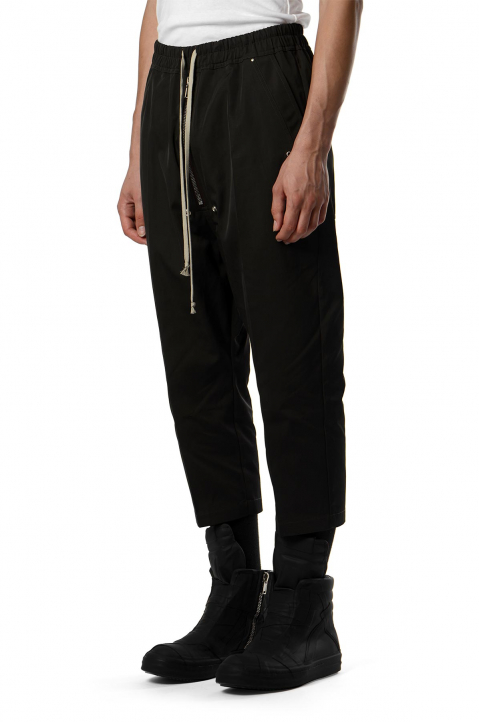 RICK OWENS Black Bela Cropped Trousers 0