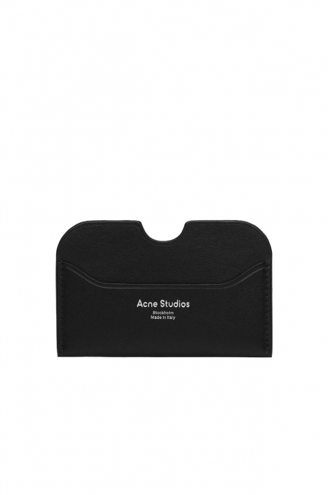 ACNE STUDIOS Black Leather Cardholder 0