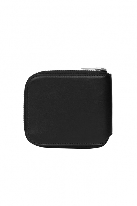 ACNE STUDIOS Black Leather Compact Bi-Fold Wallet  1