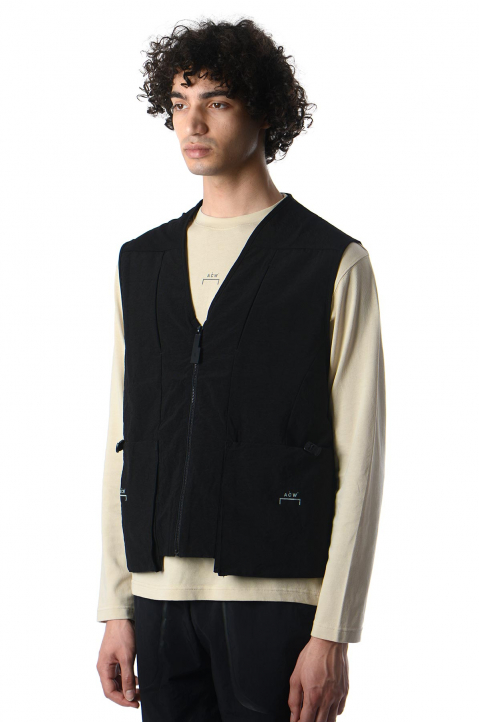 A-COLD-WALL* Drawcord Pocket Black Gilet 0