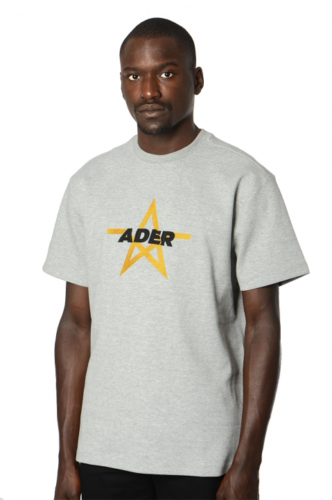 ADER ERROR Star Embroidery Grey Tee 0