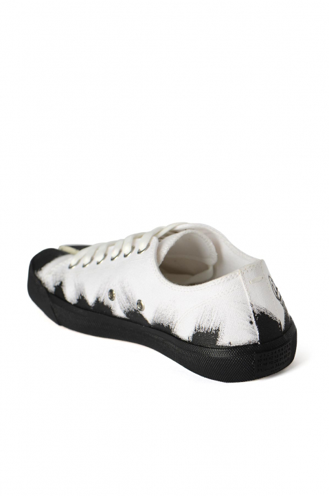 MAISON MARGIELA White Painted Canvas Tabi Sneakers 2