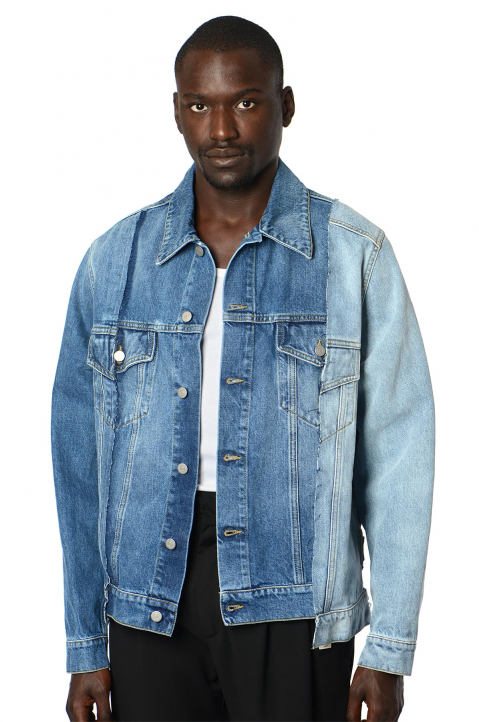 MAISON MARGIELA Deconstructed Blue Denim Jacket 0