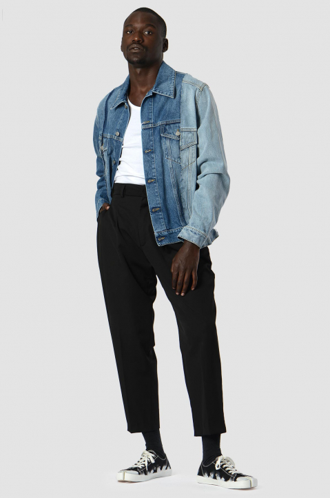 MAISON MARGIELA Deconstructed Blue Denim Jacket 3
