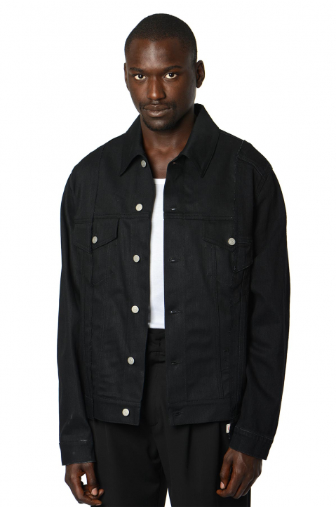 MAISON MARGIELA Deconstructed Black Denim Jacket 0