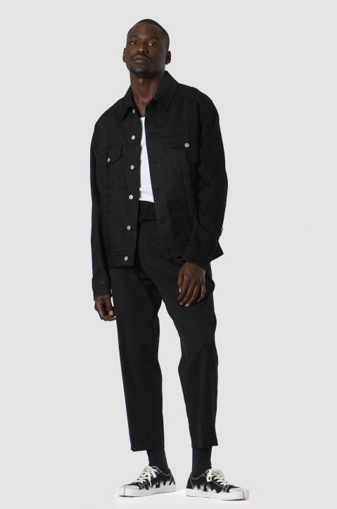 MAISON MARGIELA Deconstructed Black Denim Jacket 3