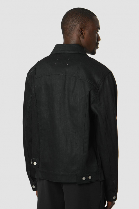 MAISON MARGIELA Deconstructed Black Denim Jacket 1