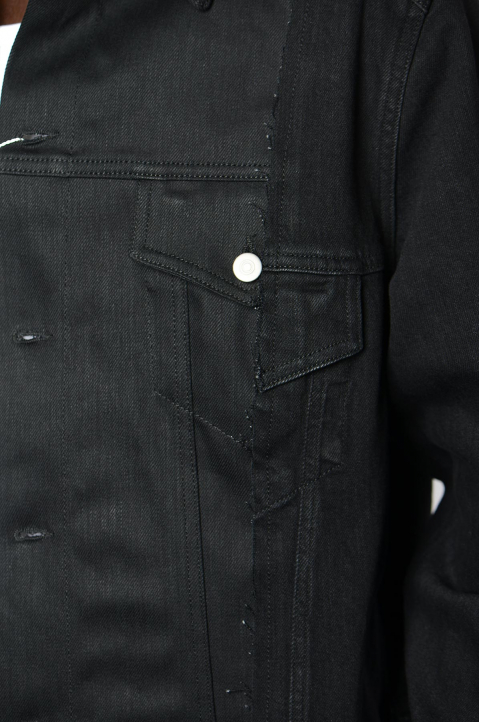 MAISON MARGIELA Deconstructed Black Denim Jacket 2