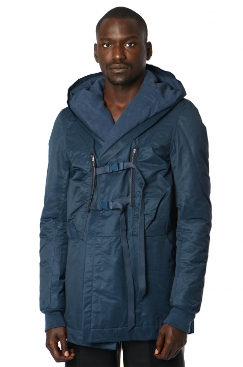 RICK OWENS Buckles Blue Jacket 0