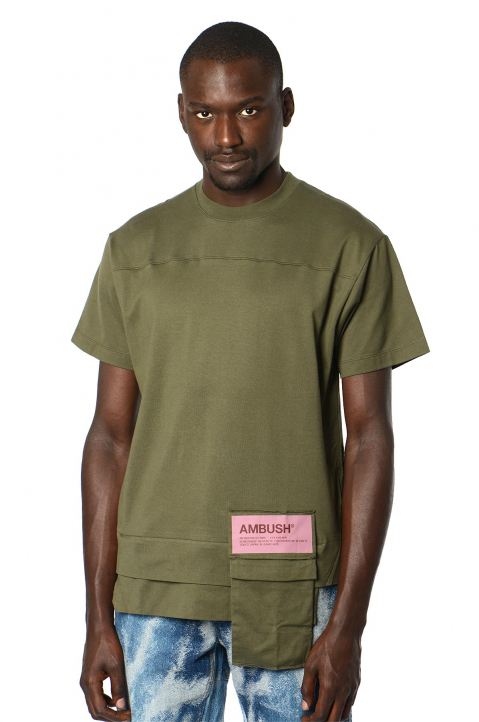 AMBUSH Green Waist Pocket Tee 0