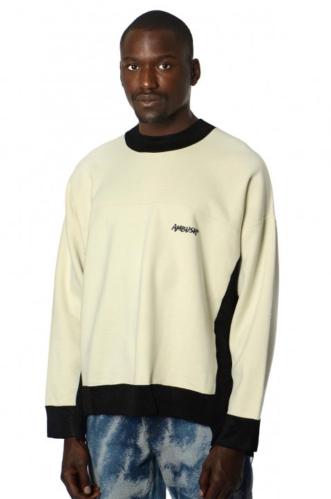 AMBUSH Mix B&W Fleece Sweatshirt 0