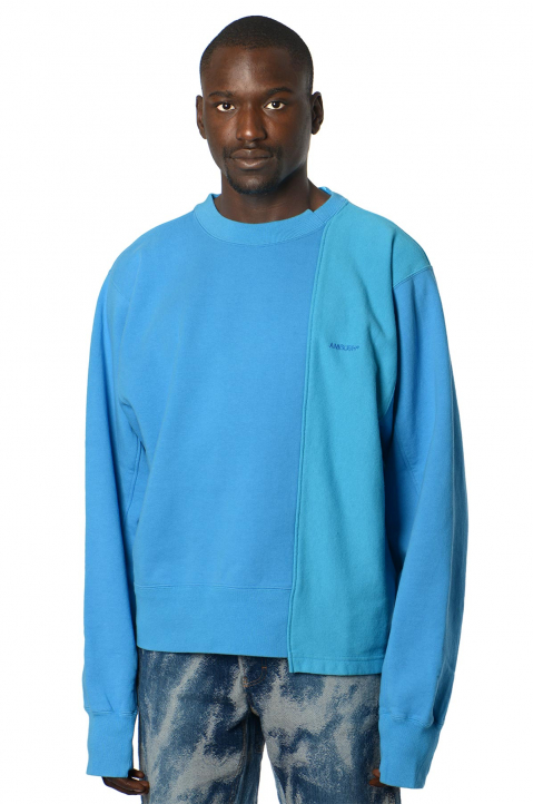 AMBUSH Blue Panel Sweatshirt  0