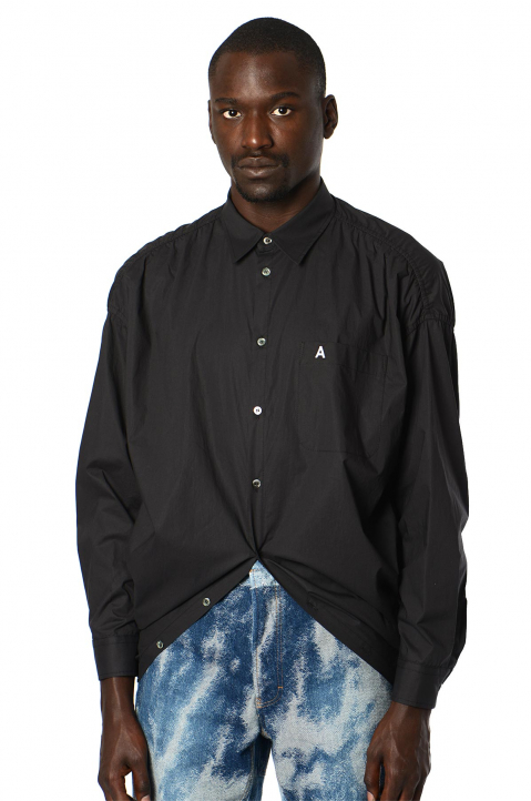 AMBUSH Rounded Hem Black Shirt  0