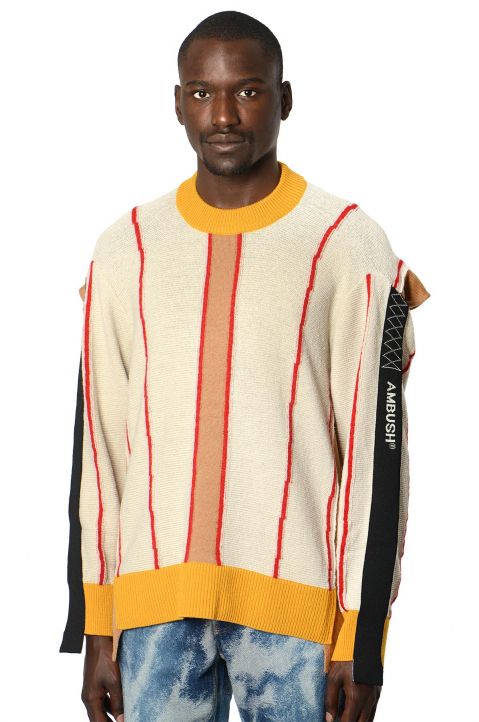 AMBUSH Folding Striped Sweater 0