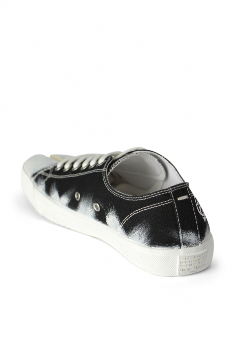 MAISON MARGIELA Black Painted Canvas Tabi Sneakers 2