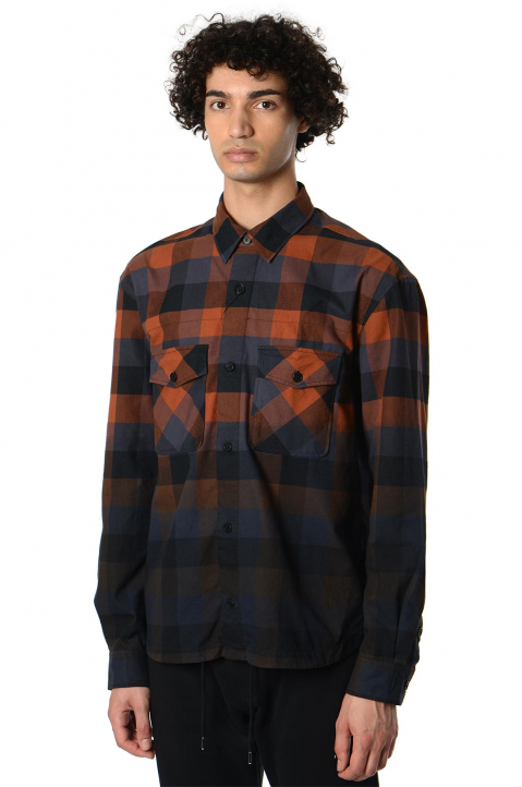 KENZO Gradient Checkered Shirt  0