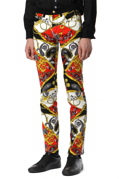 VERSACE JEANS COUTURE Fantasy Print Jeans  0
