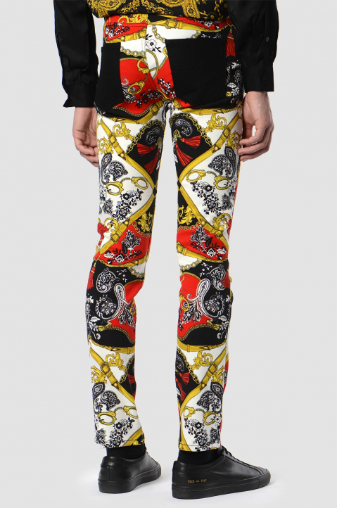 VERSACE JEANS COUTURE Fantasy Print Jeans  1