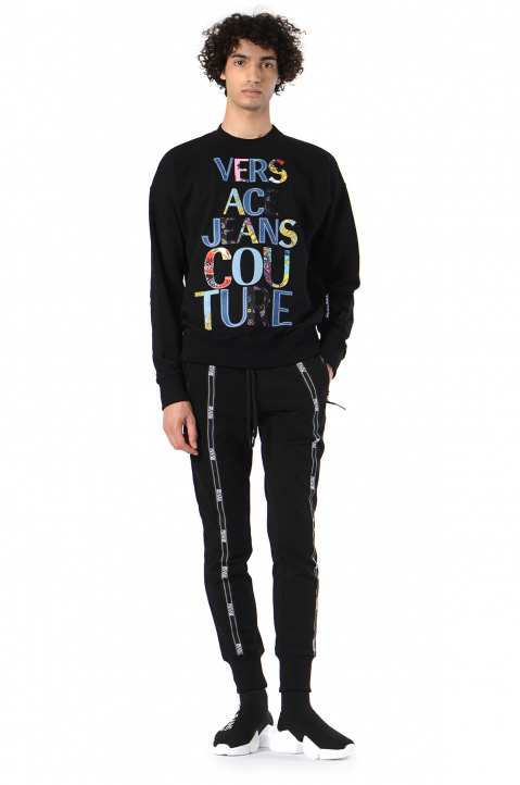 VERSACE JEANS COUTURE Logo Tape Black Joggers  2