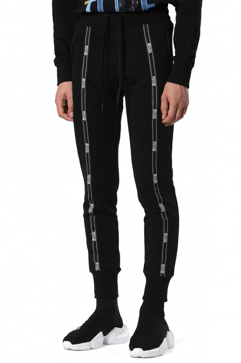 VERSACE JEANS COUTURE Logo Tape Black Joggers  0