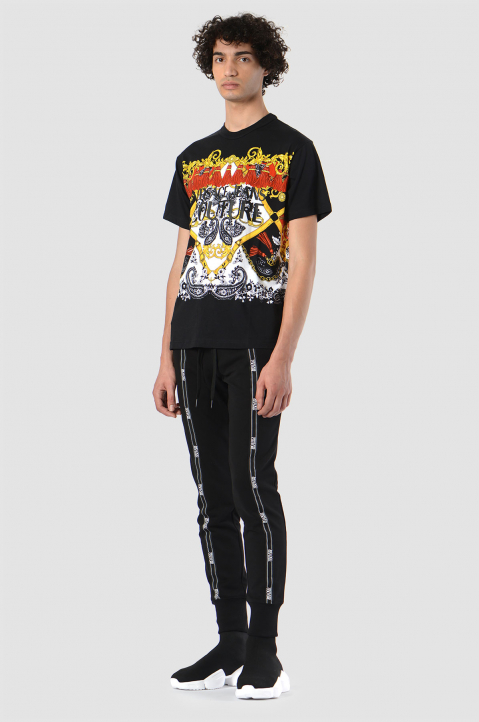 VERSACE JEANS COUTURE Fantasy Print Black Tee 2