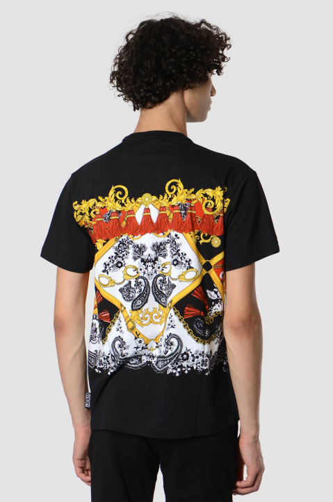 VERSACE JEANS COUTURE Fantasy Print Black Tee 1