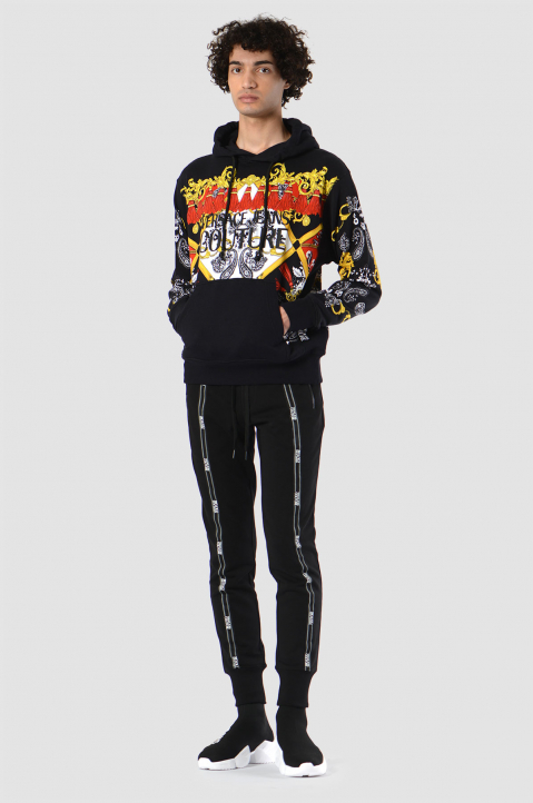 VERSACE JEANS COUTURE Fantasy Print Black Hoodie 2