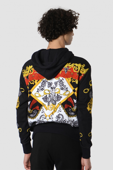 VERSACE JEANS COUTURE Fantasy Print Black Hoodie 1