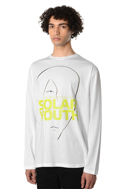 RAF SIMONS Solar Youth White LS Tee 0