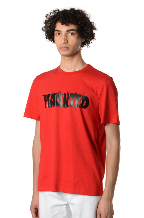 MSGM Haunted Red Tee 0