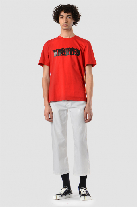 MSGM Haunted Red Tee 2