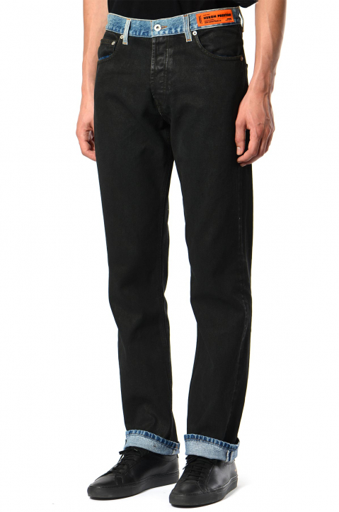 HERON PRESTON Spray Black Jeans 0