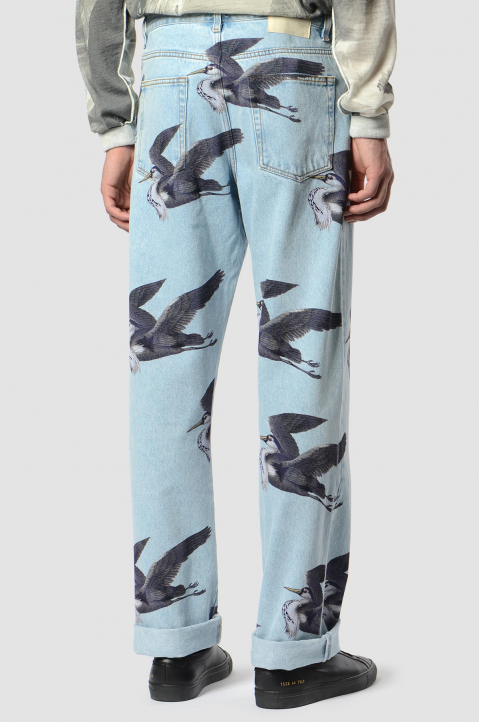 HERON PRESTON Graphic Light Blue Jeans  1