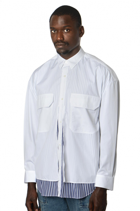 JUUN.J Double Layer White Shirt 0