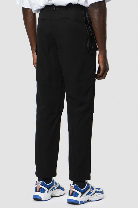 JUUN.J Synthetic Leather Pockets Black Trousers 1