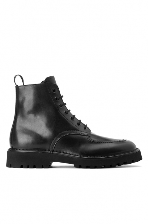KENZO Black Leather Lace-up Boots 0