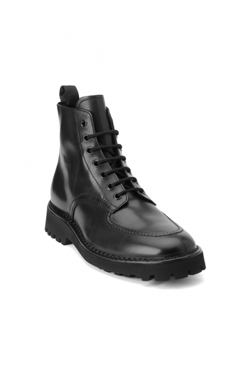 KENZO Black Leather Lace-up Boots 1