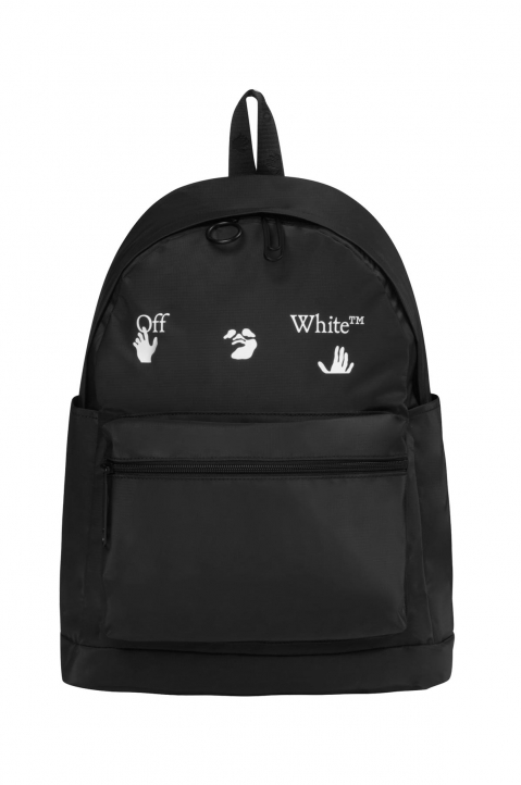 OFF-WHITE Logo PVC Black Backpack  0