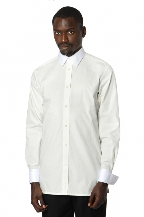 MAISON MARGIELA Double-Collar Formal White Shirt 0
